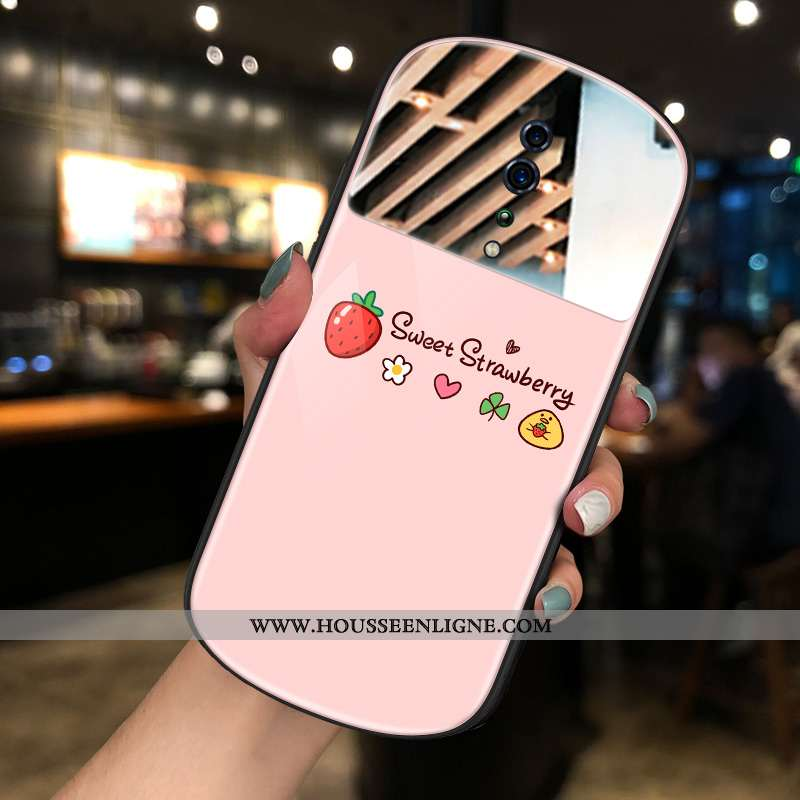 Housse Oppo Reno Z Tendance Maquillage Nouveau Coque Téléphone Portable Net Rouge Rond Rose