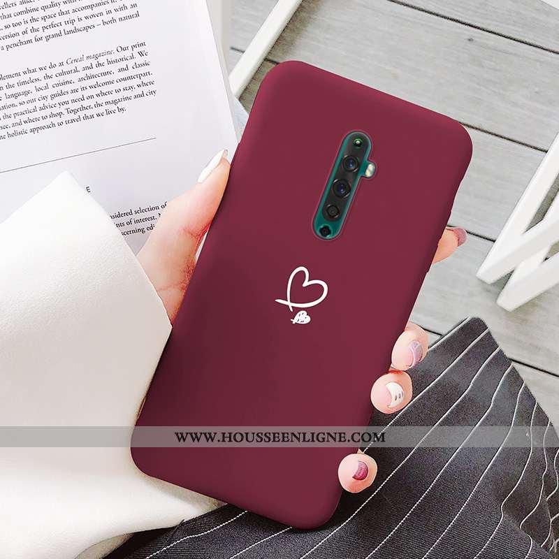 Housse Oppo Reno2 Créatif Ultra Coque Vent Simple Amoureux Tout Compris Rouge