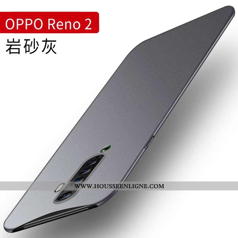 Housse Oppo Reno2 Silicone Protection Téléphone Portable Légère Difficile Délavé En Daim Ultra Gris