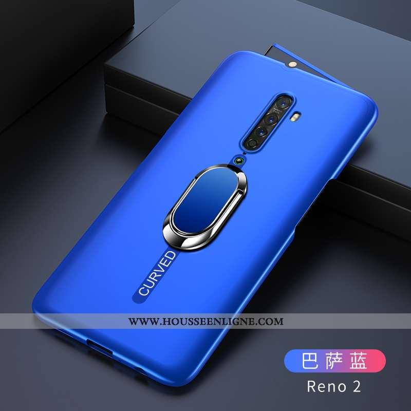 Housse Oppo Reno2 Tendance Légère Étui Tout Compris Bleu Marin Incassable Protection Bleu Foncé