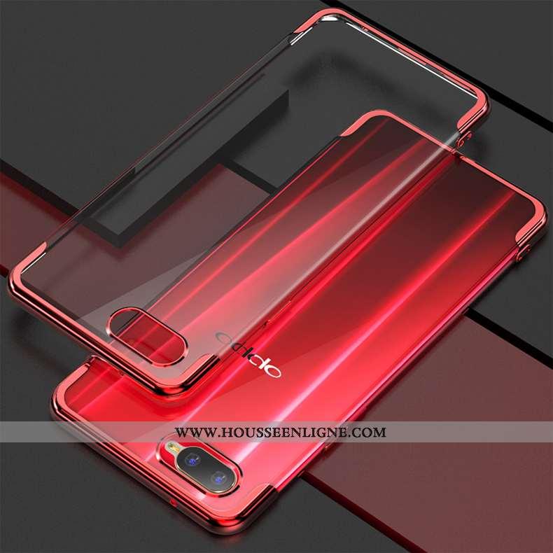Housse Oppo Rx17 Neo Protection Tendance Étui Coque Silicone Fluide Doux Mode Rouge