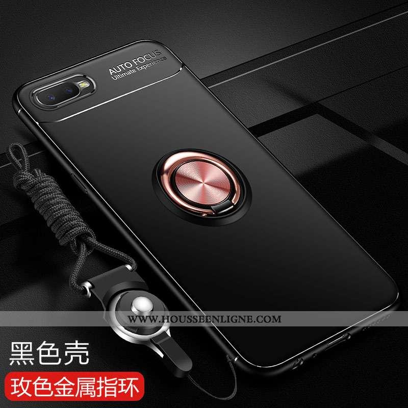 Housse Oppo Rx17 Neo Silicone Protection Noir Fluide Doux Incassable Coque Anneau