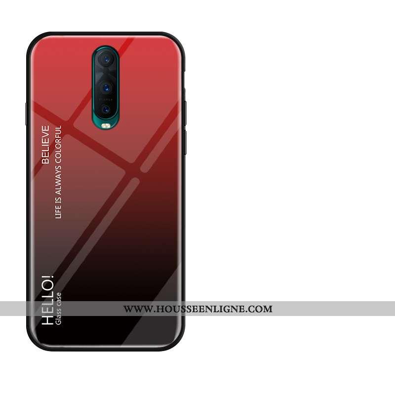 Housse Oppo Rx17 Pro Silicone Protection Verre Membrane Tempérer Fluide Doux Incassable Rouge