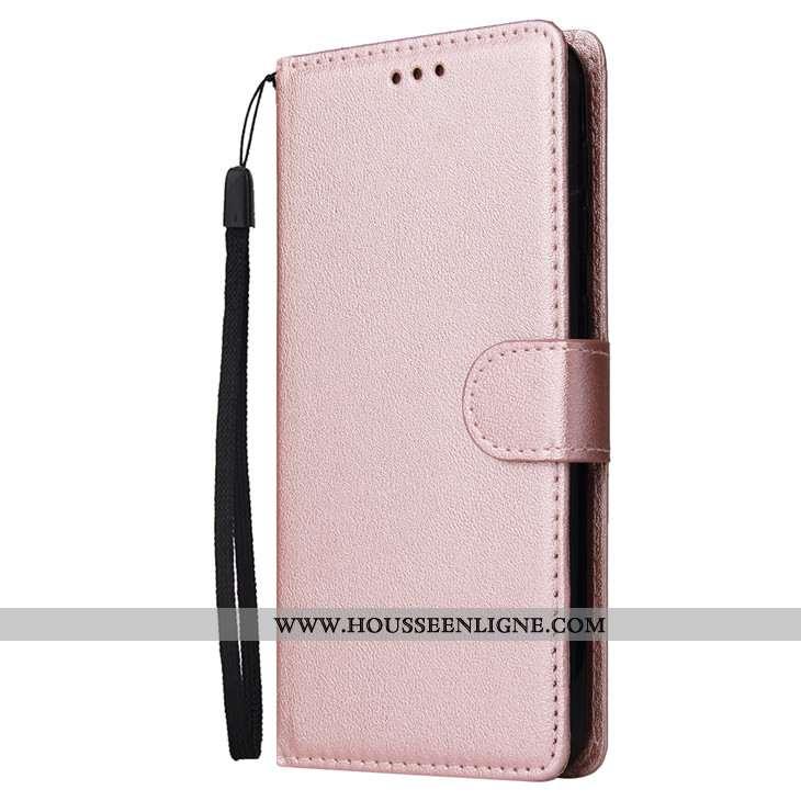 Housse Samsung Galaxy A10 Cuir Fluide Doux Téléphone Portable Rose Étoile Tout Compris Étui