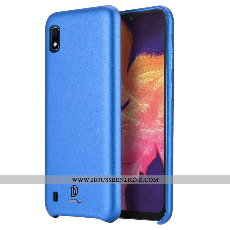 Housse Samsung Galaxy A10 Cuir Modèle Fleurie Incassable Bleu Simple Étoile Étui