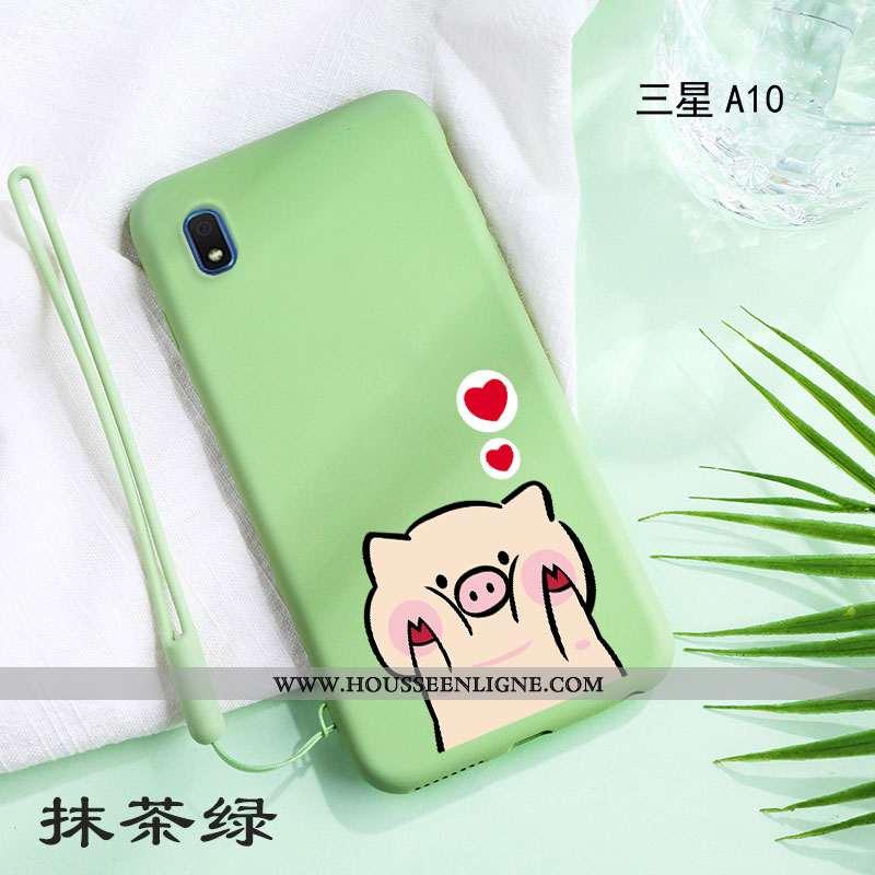 Housse Samsung Galaxy A10 Personnalité Créatif Incassable Net Rouge Téléphone Portable Simple Refroi