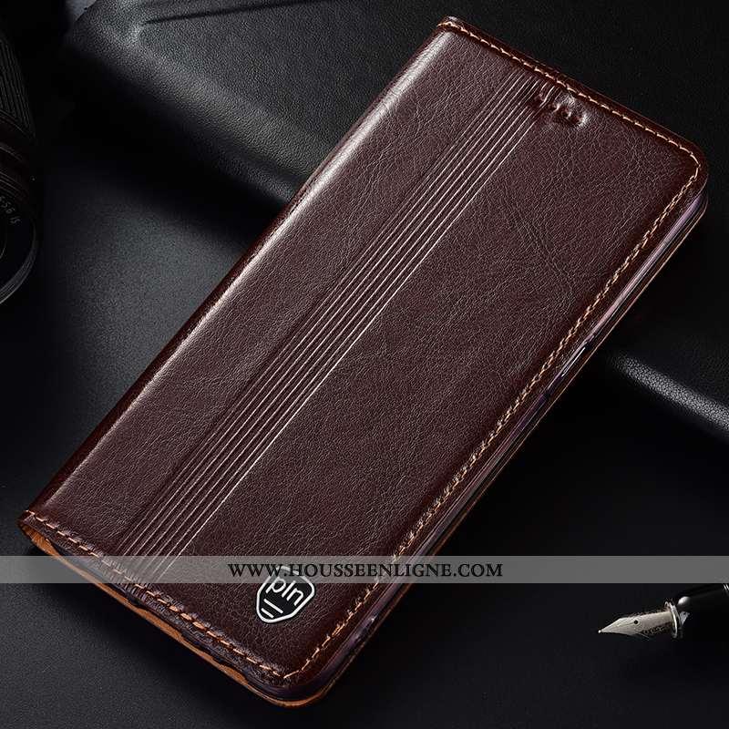 Housse Samsung Galaxy A10s Cuir Véritable Protection Tout Compris Étoile Marron Téléphone Portable