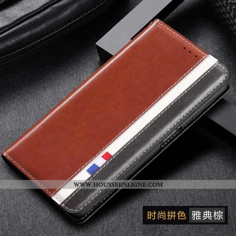 Housse Samsung Galaxy A10s Protection Cuir Véritable Étui Téléphone Portable Silicone Cuir Coque Mar