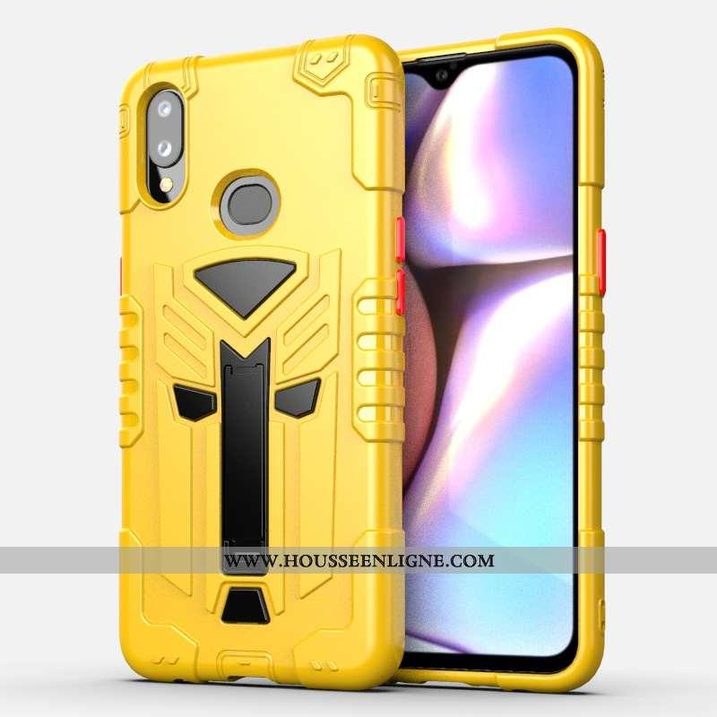 Housse Samsung Galaxy A10s Protection Fluide Doux Téléphone Portable Jaune Pour Étoile Coque