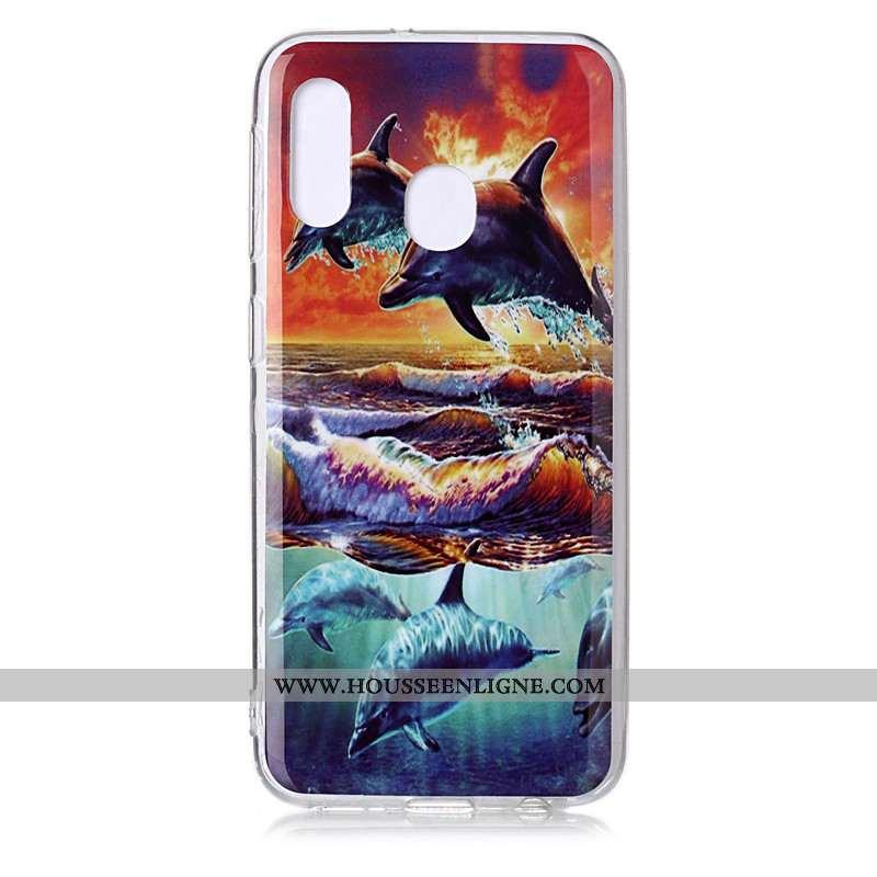 Housse Samsung Galaxy A20e Dessin Animé Tendance Personnalité Coque Fluide Doux Incassable Étoile Bl