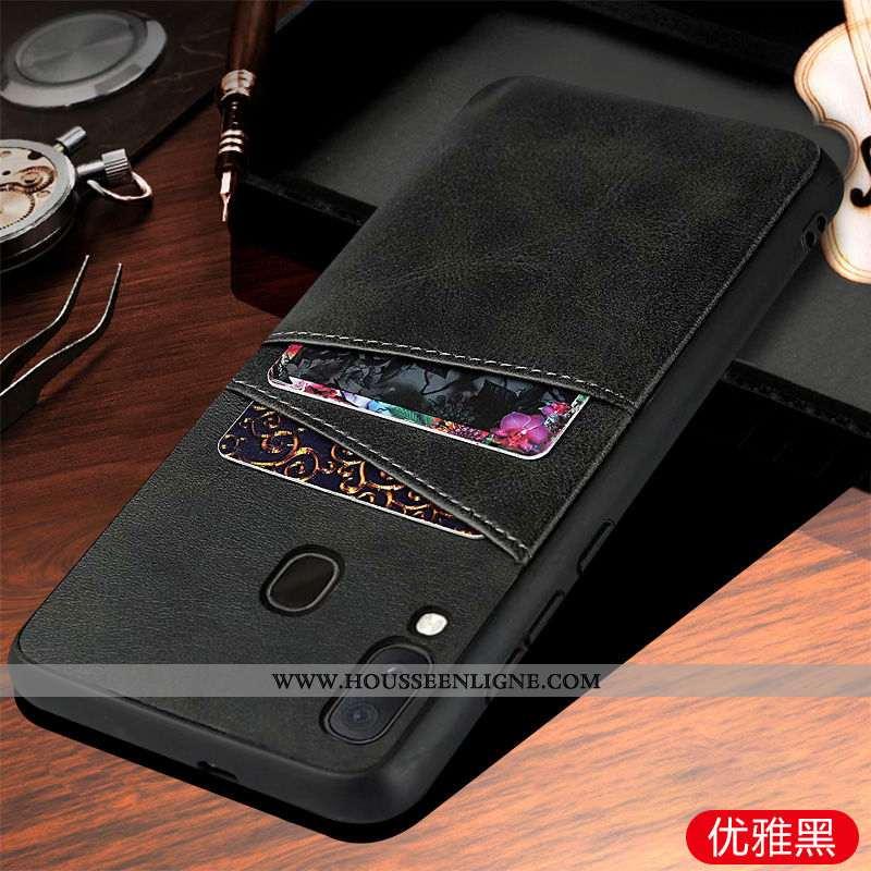 Housse Samsung Galaxy A20e Protection Téléphone Portable Coque Étui Étoile Noir Business