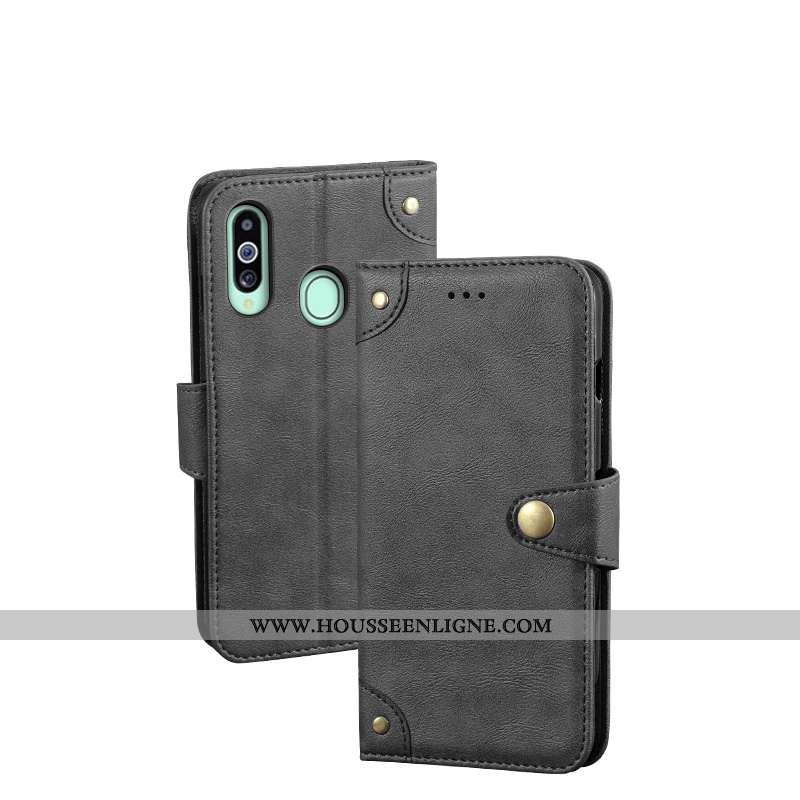 Housse Samsung Galaxy A20s Cuir Fluide Doux Téléphone Portable Tout Compris Étoile Protection Coque