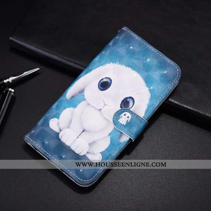 Housse Samsung Galaxy A21s Cuir Protection Étui Coque Téléphone Portable Dessin Animé Étoile Bleu