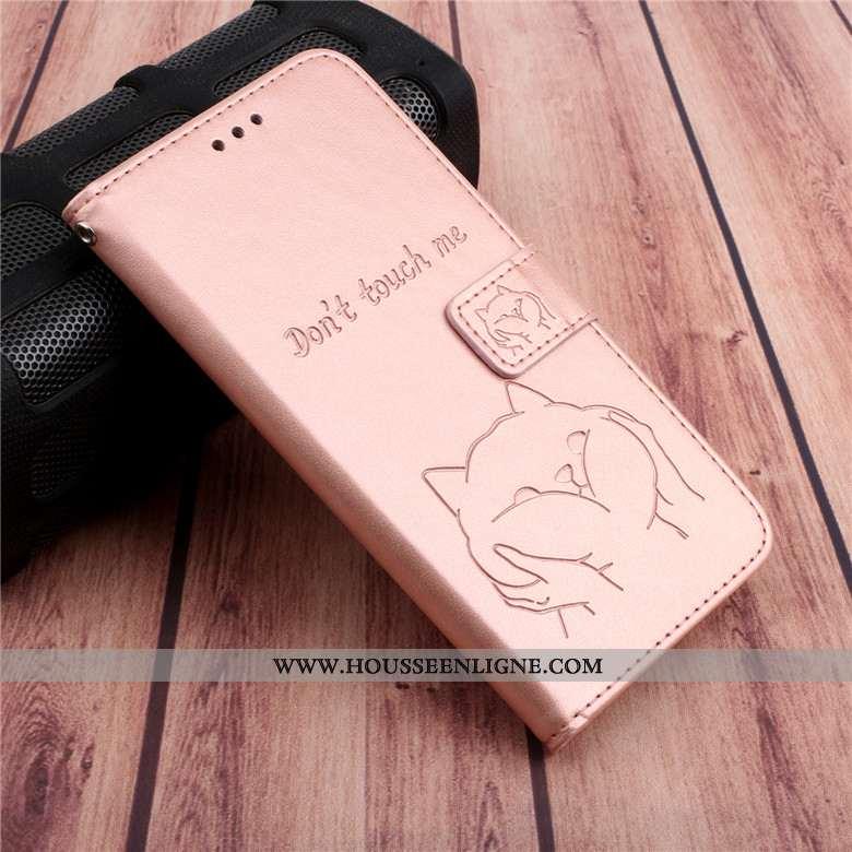 Housse Samsung Galaxy A30s Cuir Protection Rose Étoile Téléphone Portable Étui