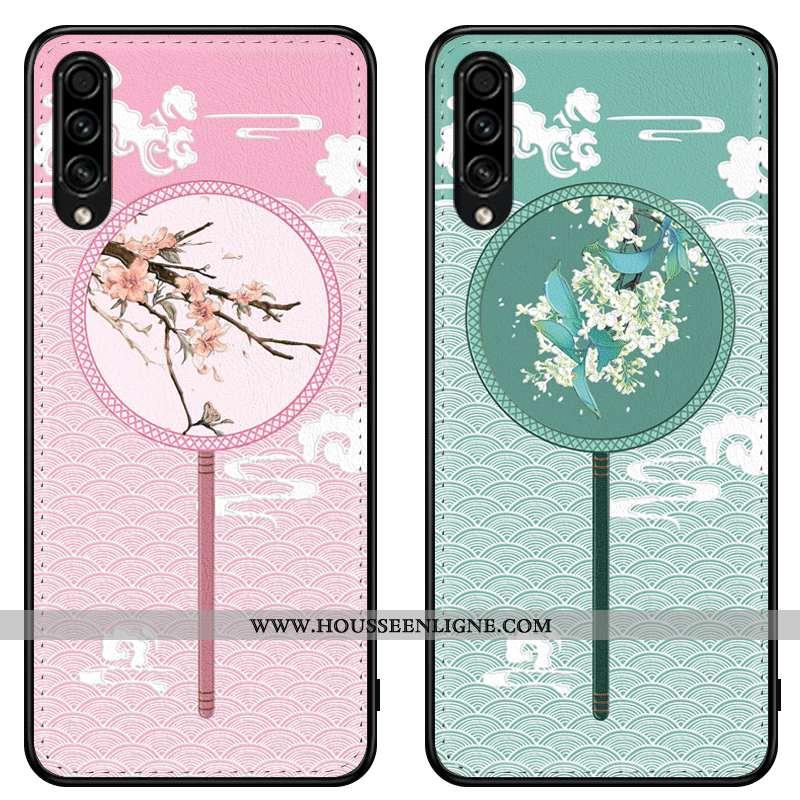 Housse Samsung Galaxy A30s Personnalité Gaufrage Étui Fluide Doux Style Chinois Incassable Étoile Ro