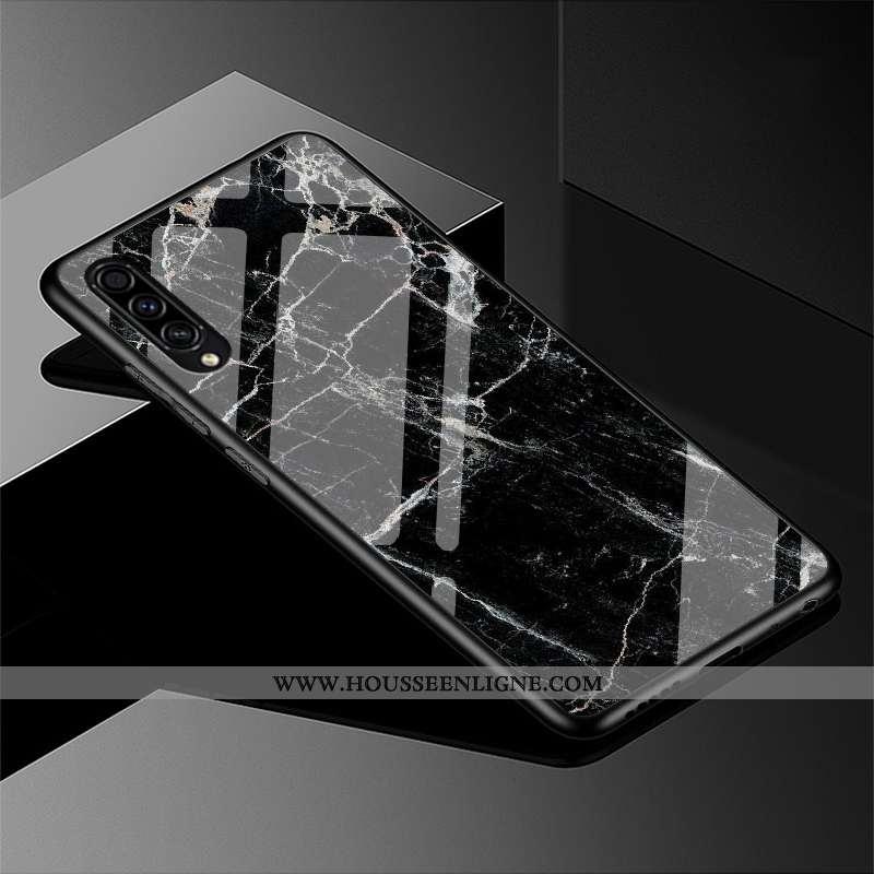 Housse Samsung Galaxy A30s Tendance Protection Personnalité Étui Étoile Créatif Délavé En Daim Noir