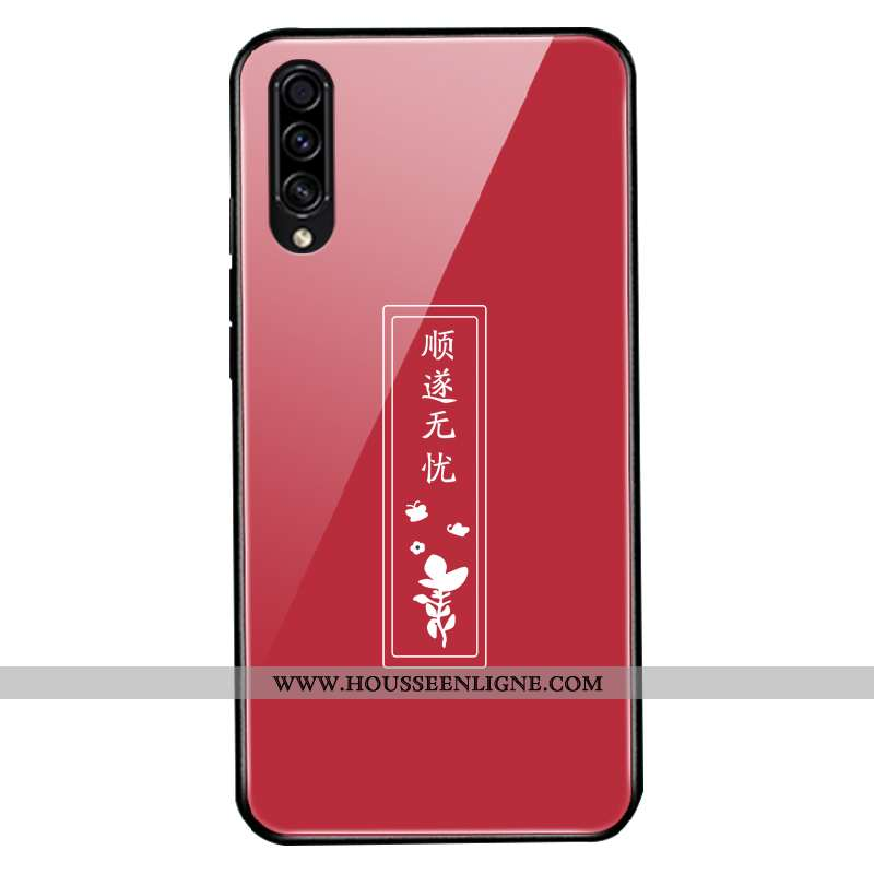 Housse Samsung Galaxy A30s Verre Personnalité Nouveau Fluide Doux Protection Créatif Étoile Rouge