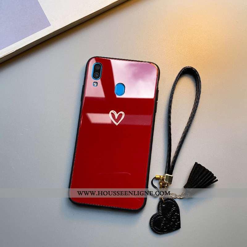 Housse Samsung Galaxy A40 Personnalité Créatif Fluide Doux Étoile Coque Simple Incassable Rouge