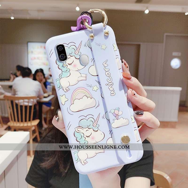 Housse Samsung Galaxy A40 Tendance Fluide Doux Coque Étoile Dessin Animé Protection Silicone Bleu