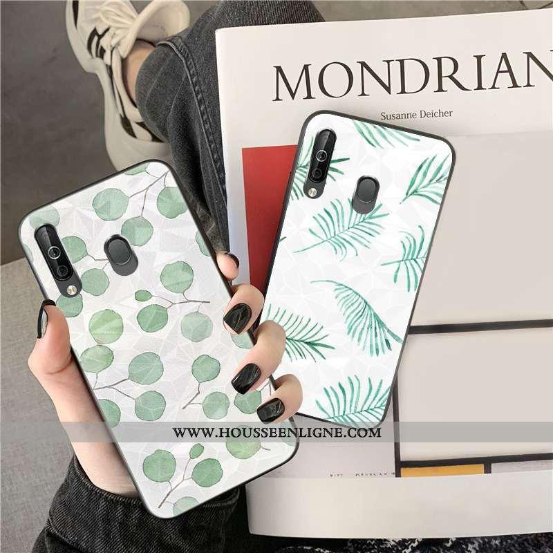 Housse Samsung Galaxy A40s Modèle Fleurie Étui Vert Coque Étoile Téléphone Portable Fleurs Verte