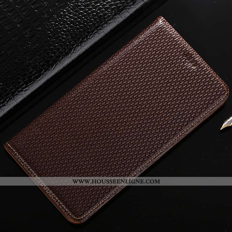 Housse Samsung Galaxy A40s Modèle Fleurie Protection Téléphone Portable Coque Étui Étoile Marron