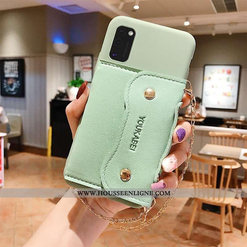 Housse Samsung Galaxy A41 Fluide Doux Silicone Simple Protection Coque Téléphone Portable Incassable
