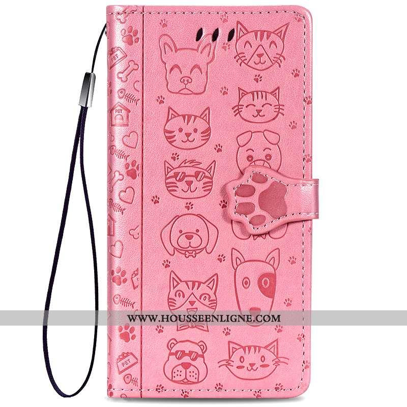 Housse Samsung Galaxy A50 Charmant Portefeuille Carte Rose Incassable Ornements Suspendus Étoile