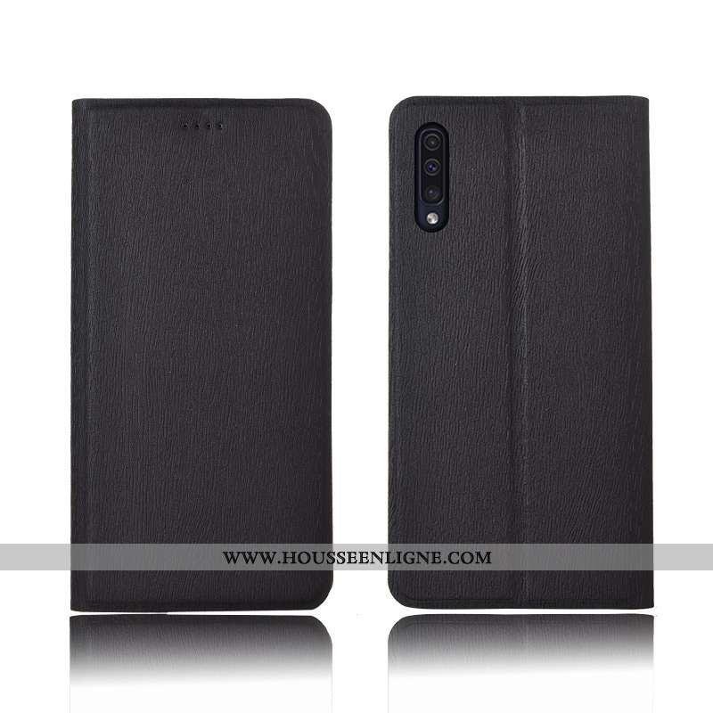 Housse Samsung Galaxy A50 Cuir Modèle Fleurie Protection Téléphone Portable Tout Compris Silicone Ét
