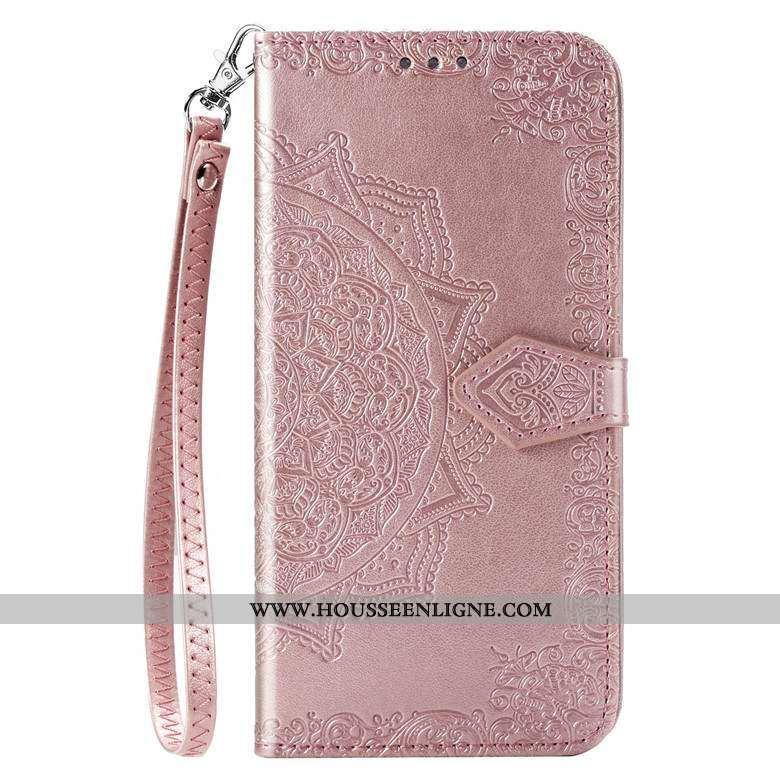 Housse Samsung Galaxy A51 Protection Cuir Silicone Fluide Doux Téléphone Portable Étui Rose