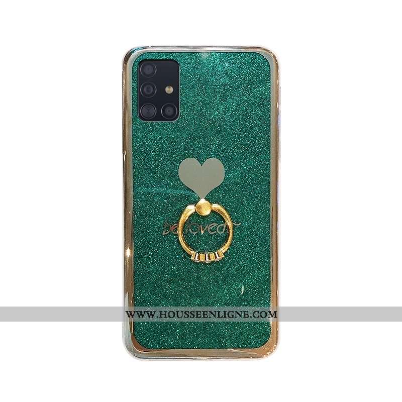 Housse Samsung Galaxy A51 Protection Personnalité Tout Compris Vert Rose Incassable Téléphone Portab