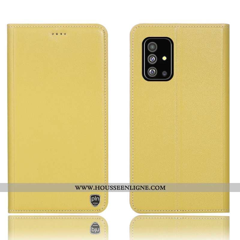 Housse Samsung Galaxy A51 Protection Téléphone Portable Étui Tout Compris Incassable Coque Jaune
