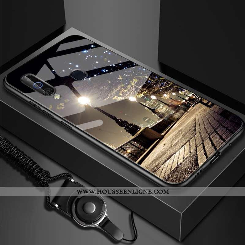 Housse Samsung Galaxy A60 Fluide Doux Silicone Étoile Étui Personnalisé Verre Téléphone Portable Noi