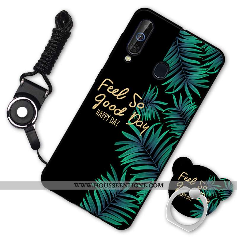 Housse Samsung Galaxy A60 Protection Fluide Doux Étui Téléphone Portable Silicone Noir Coque