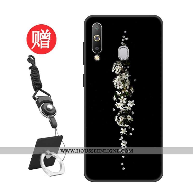 Housse Samsung Galaxy A60 Protection Tempérer Personnalisé Étoile Noir Étui Membrane