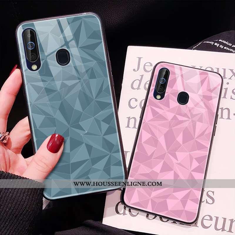 Housse Samsung Galaxy A60 Tendance Modèle Fleurie Étui Téléphone Portable Fluide Doux Bleu Étoile