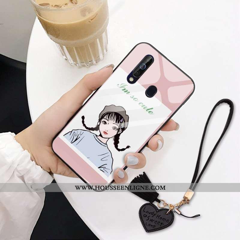 Housse Samsung Galaxy A60 Tendance Protection Étoile Personnalité Rose Téléphone Portable Difficile