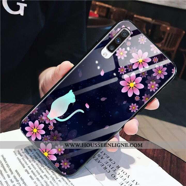 Housse Samsung Galaxy A70 Fluide Doux Silicone Noir Vent Mode Britanique Téléphone Portable