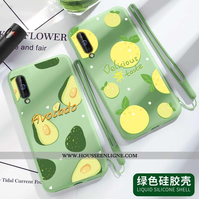 Housse Samsung Galaxy A70 Légère Silicone Vert Légères Petit Incassable Tout Compris Verte