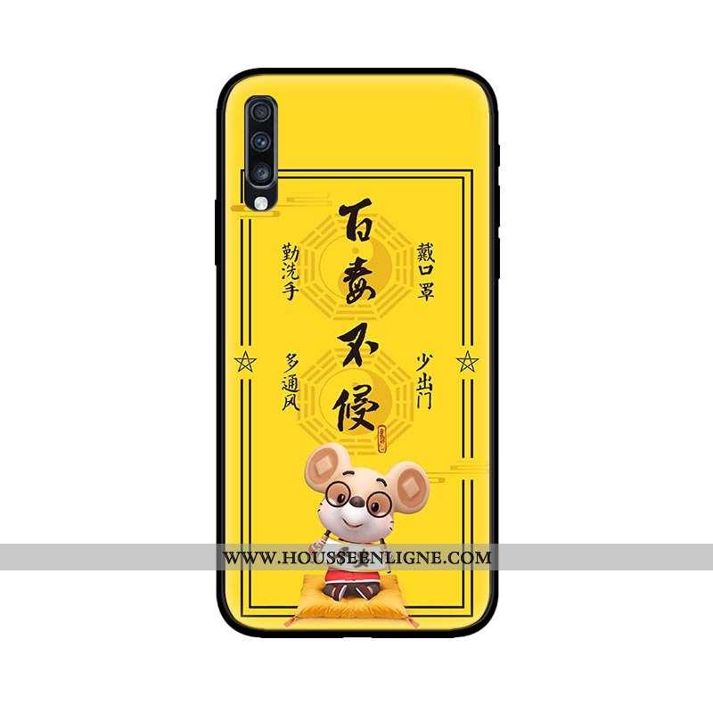 Housse Samsung Galaxy A70 Personnalité Créatif Étoile Protection Silicone Téléphone Portable Tendanc