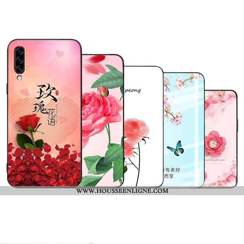 Housse Samsung Galaxy A70 Protection Délavé En Daim Tout Compris Fleur Créatif Personnalité Fluide D
