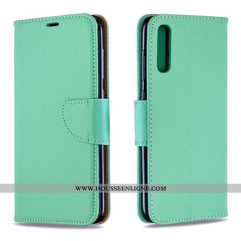 Housse Samsung Galaxy A70s Portefeuille Tendance Carte Protection Tout Compris Vert Coque Verte