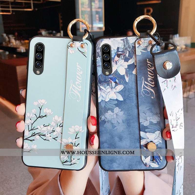Housse Samsung Galaxy A70s Protection Ornements Suspendus Téléphone Portable Frais Bleu Étoile Tenda