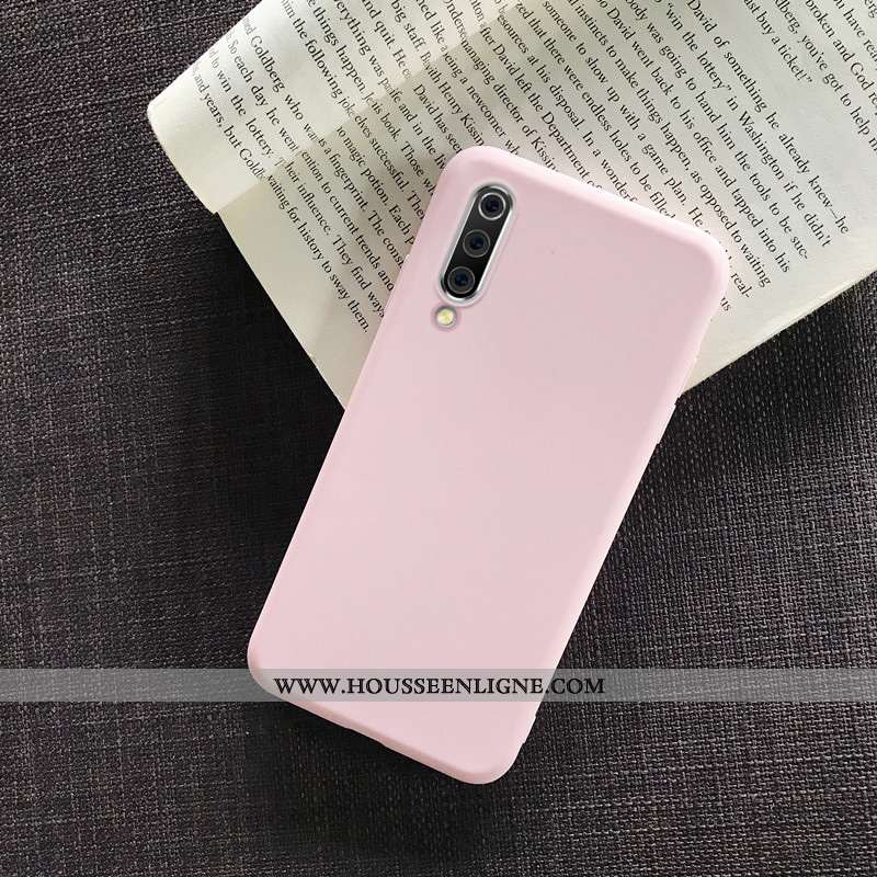 Housse Samsung Galaxy A70s Silicone Protection Tendance Coque Simple Tout Compris Rose