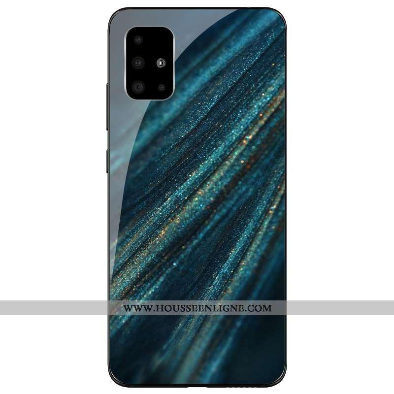 Housse Samsung Galaxy A71 Silicone Protection Vert Coque Incassable Tout Compris Étoile Verte