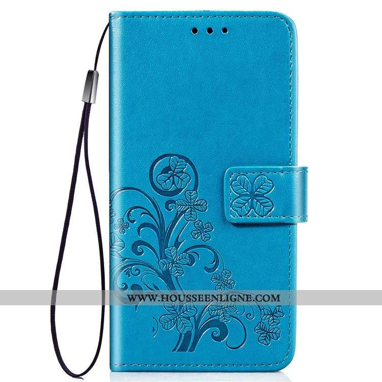 Housse Samsung Galaxy A80 Protection Cuir Téléphone Portable Carte Clamshell Coque Bleu