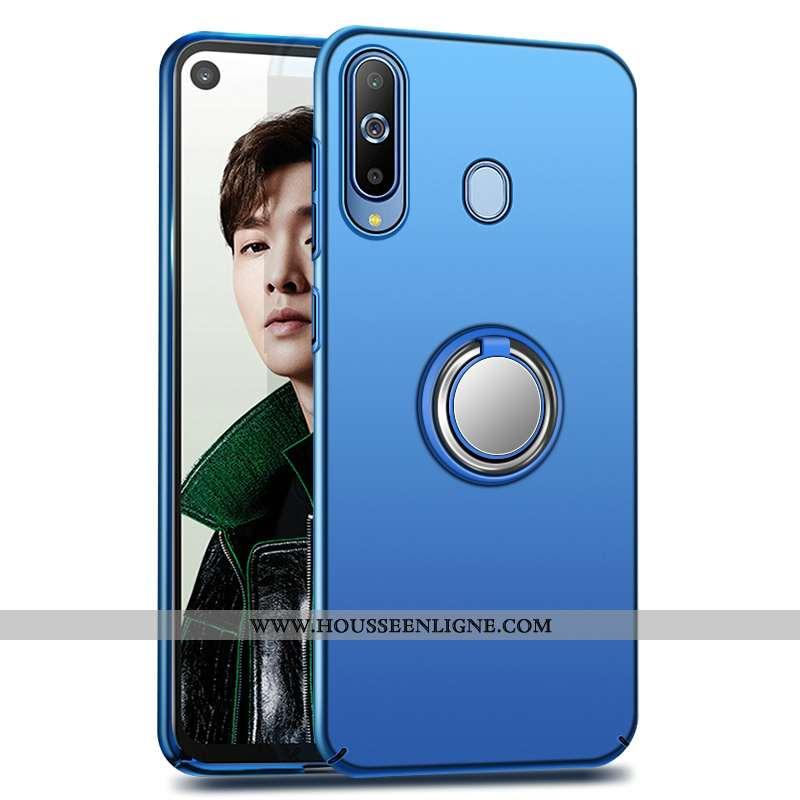 Housse Samsung Galaxy A8s Créatif Protection Étui Délavé En Daim Téléphone Portable Bleu Coque