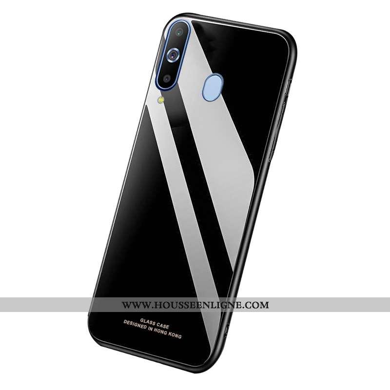 Housse Samsung Galaxy A8s Légère Verre Bordure Téléphone Portable Légères Noir Étoile