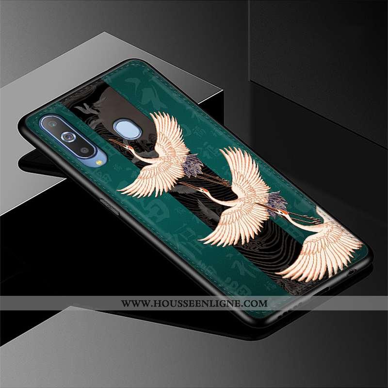 Housse Samsung Galaxy A8s Modèle Fleurie Protection Étoile Cuir Tendance Vert Téléphone Portable Ver