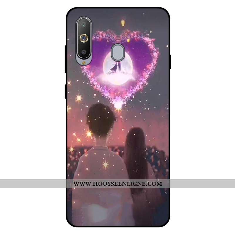 Housse Samsung Galaxy A8s Silicone Fluide Doux Incassable Coque Amoureux Tout Compris Personnalisé R