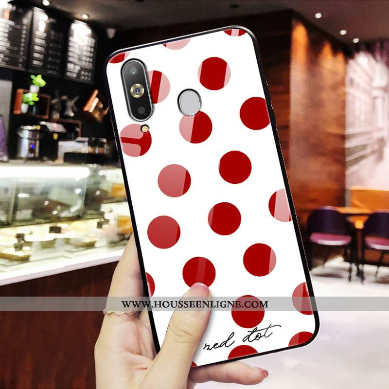 Housse Samsung Galaxy A8s Silicone Mode Tendance Nouveau Protection Personnalité Tout Compris Rouge